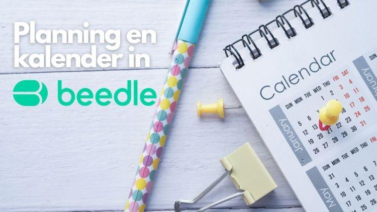 Planning en kalender in Beedle