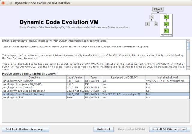 Screenshot from DCEVM