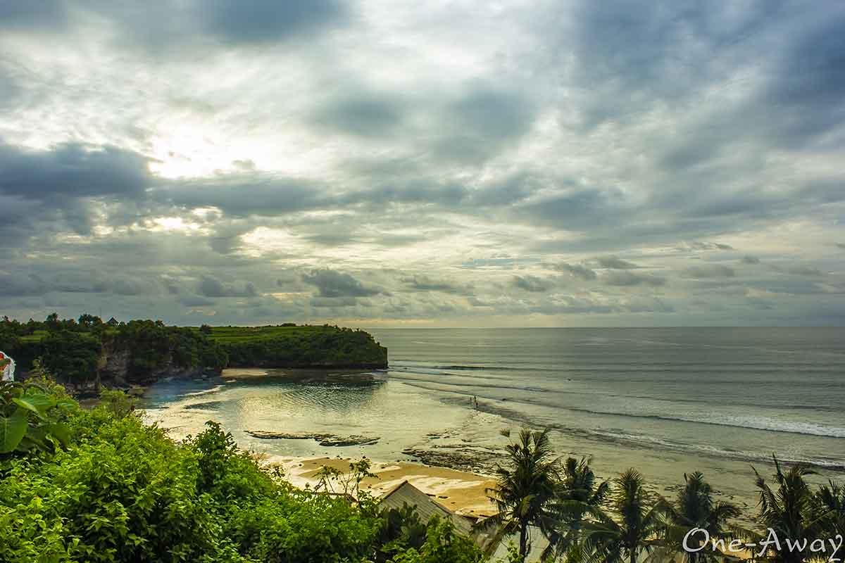 balangan beach bali sunset indonesia