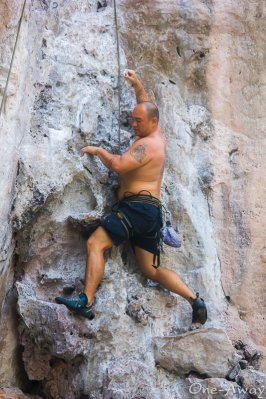 Johnny FD Rock Climbing East Railay Beach Krabi Thailand