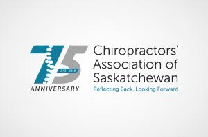 75 Anniversary Logo Chiropractors' of Association of Saskatchewan