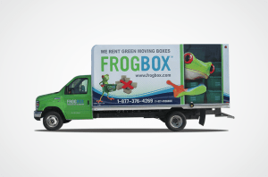 Frog Box Moving Van Wrap
