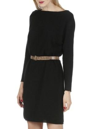 Petite robe noire en laine