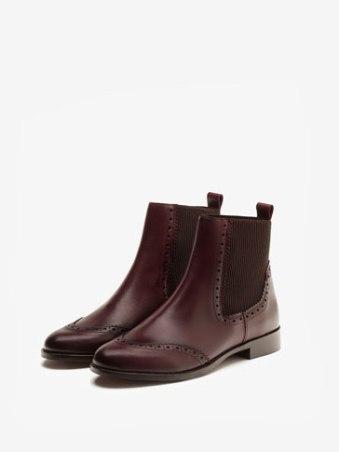chelsea boots bordeaux Massimo Dutti