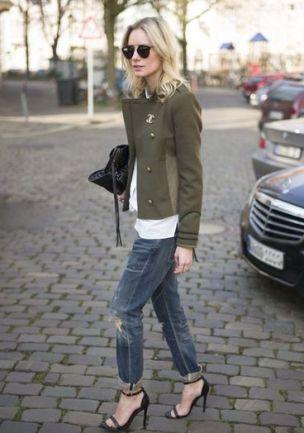 veste courte kaki