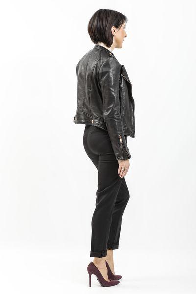Pantalon masculin noir version rock avec blouson en cuir