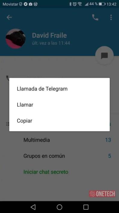 telegram llamadas android