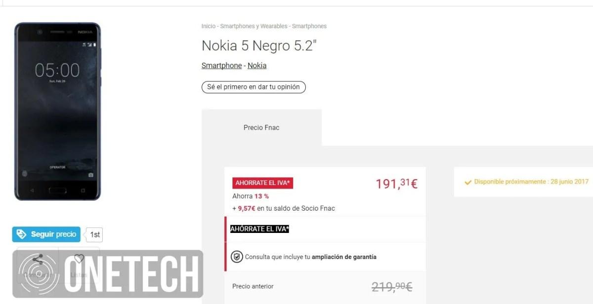 Nokia 5 en Fnac.es