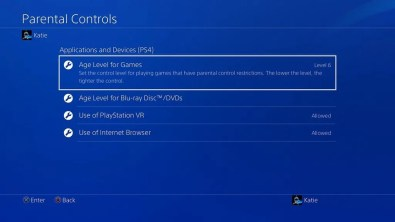 Playstation-4 Firmware-5.0-Control-parental