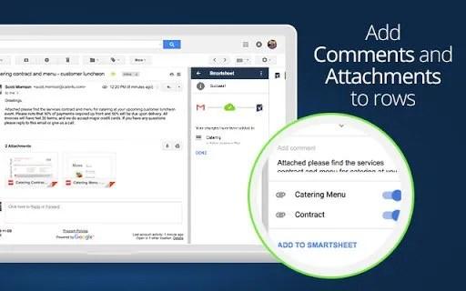 Smartsheet Complementos Gmail
