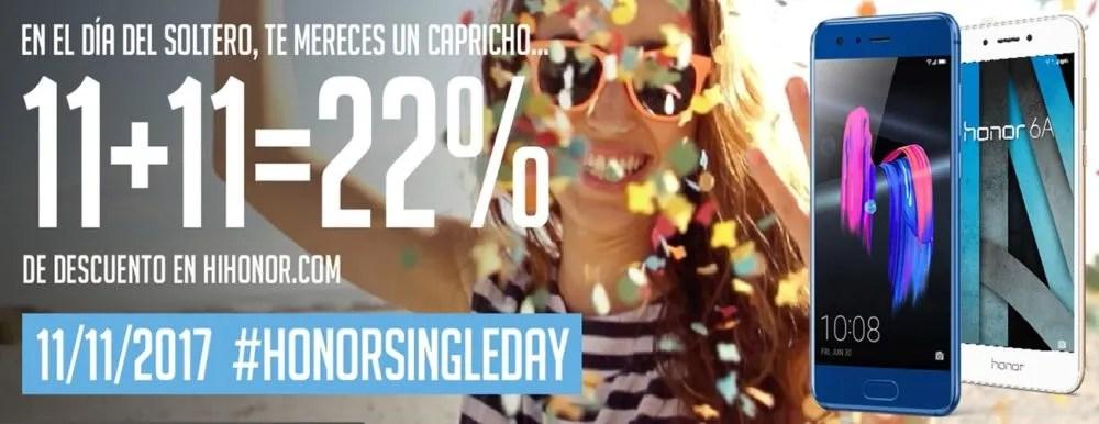 Honor ofrece un 22% de descuento en móviles durante el HonorSingleDay