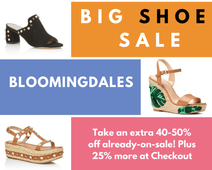 BLOOMINGDALE'S CRAZIEST LAST MINUTE SPRING SHOE SALE TO JUMP ON