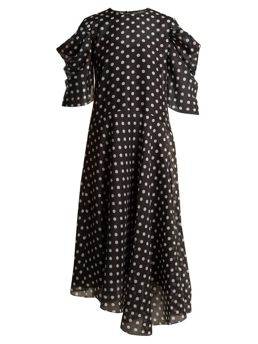 black–polka–dot–dress