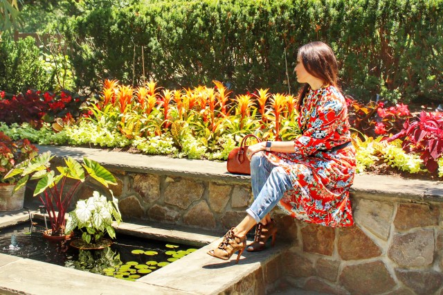 red–floral–dress