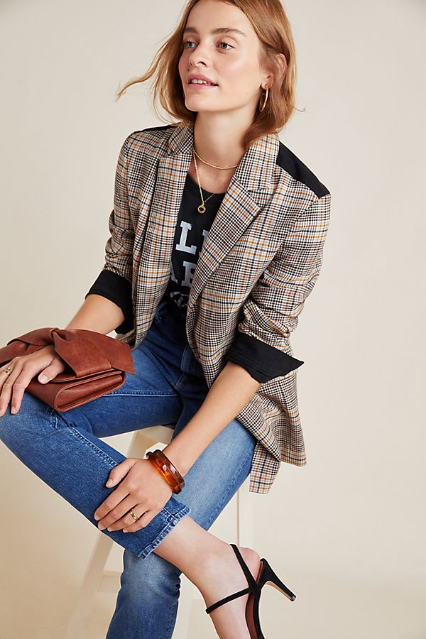 plaid–blazer