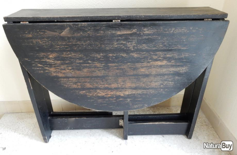 table ovale pliante console