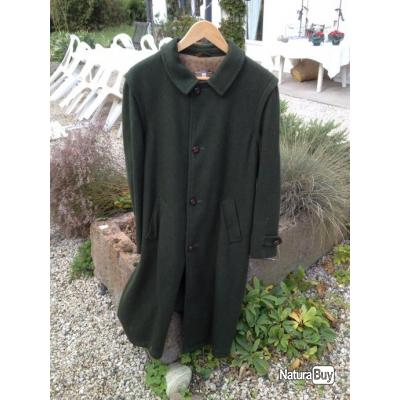 Manteau type loden vert foncé