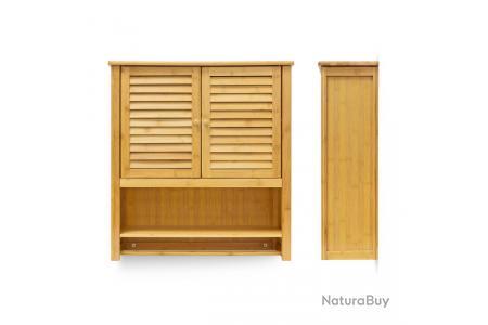 Armoire Pour Salle De Bain Bambou 66 X 62 Cm 3213029 Mobilier 4727561