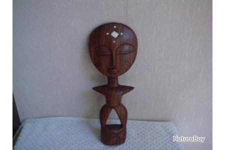 statuette ancienne sculture en bois art africain hauteur 25 cm