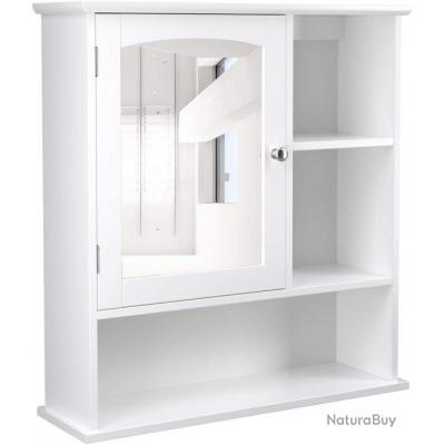 placard meuble de salle de bain armoire a pharmacie mural miroir blanc 12 0000815