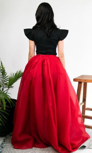 Rose Silk Skirt Rachel Gilbert