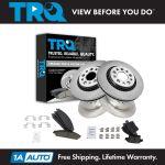 Trq Front Rear Ceramic Disc Brake Pads Rotors Kit For Ford Mercury Ebay