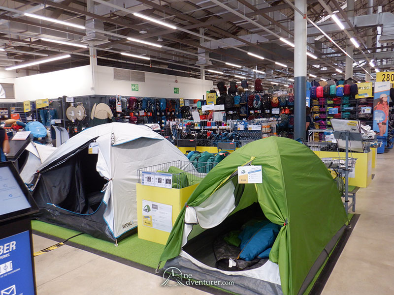 decathlon inside store