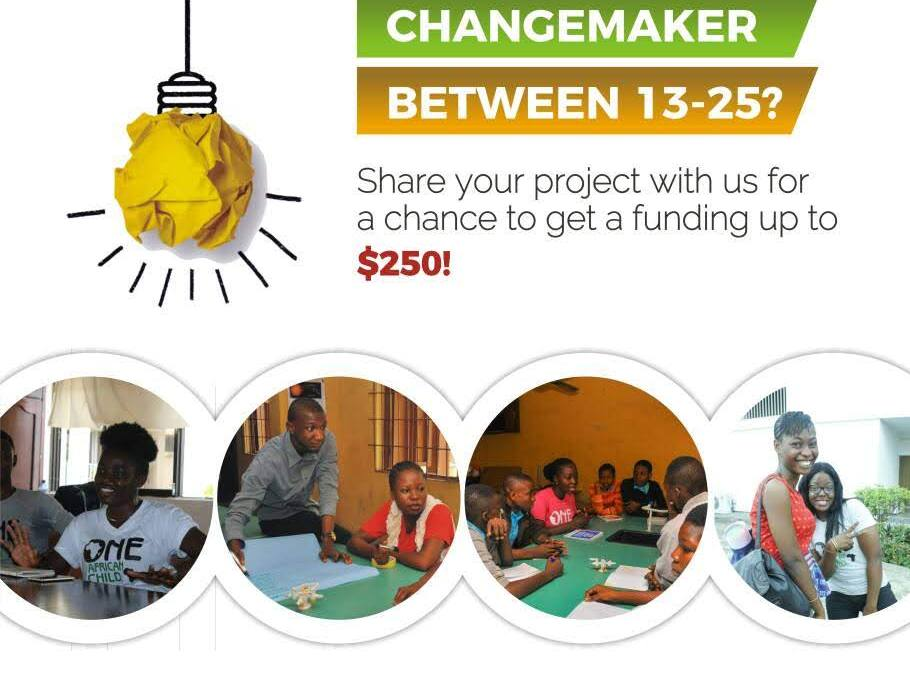 Apply for $250 Mini-Grant for Youth Changemakers