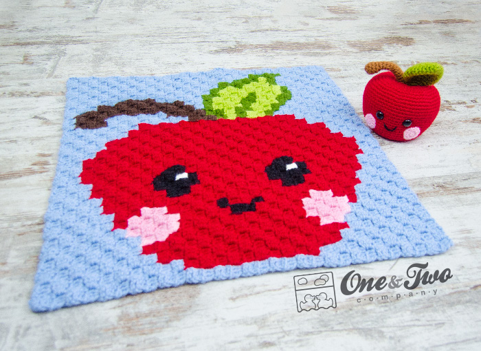 Alice The Apple C2c Blanket Free Crochet Pattern One And Two