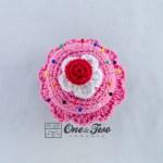 One and Two Company - Cupcake Pincushion Free Crochet Pattern