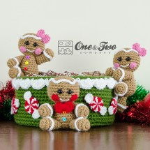 One and Two Company - Gingerbread Christmas Basket