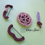 One and Two Company - Shield, Sword and Bow FREE Applique Crochet Pattern