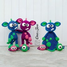 One and Two Company - Mel the Monster and Friends Lovey & Amigurumi