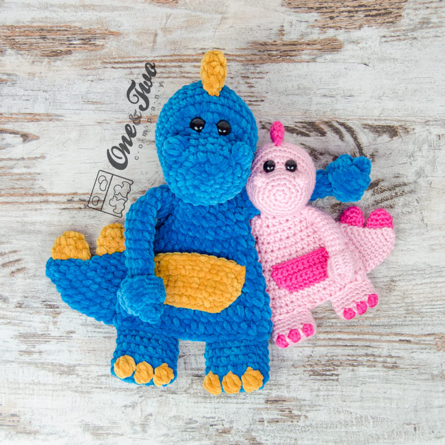 Dan The Dino Cuddler New March Cal And Crochet Kit One And Two