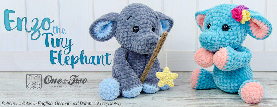 Enzo the Tiny Elephant Amigurumi – New Crochet Pattern   One