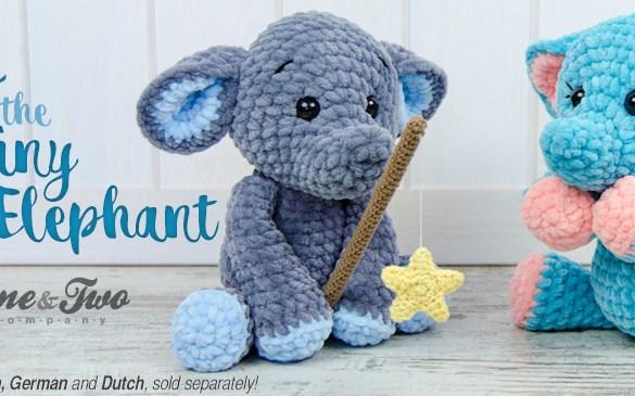 Enzo the Tiny Elephant Amigurumi - New Crochet Pattern