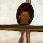 有镜子的室内(自画像) by 卢西安·弗洛伊德