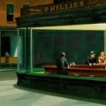 相信自己置身于影院之中——夜鹰 by 爱德华·霍珀