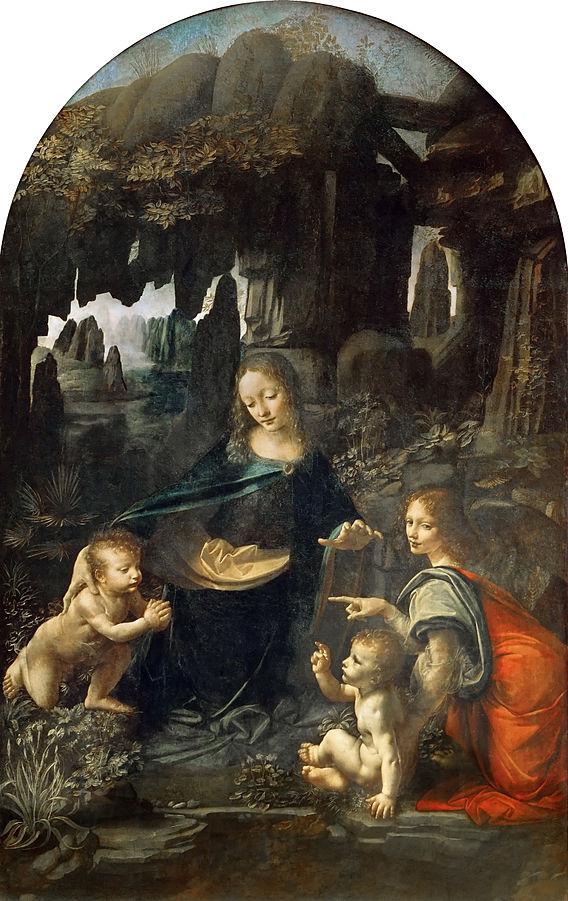 568px-Leonardo_Da_Vinci_-_Vergine_delle_Rocce_(Louvre)