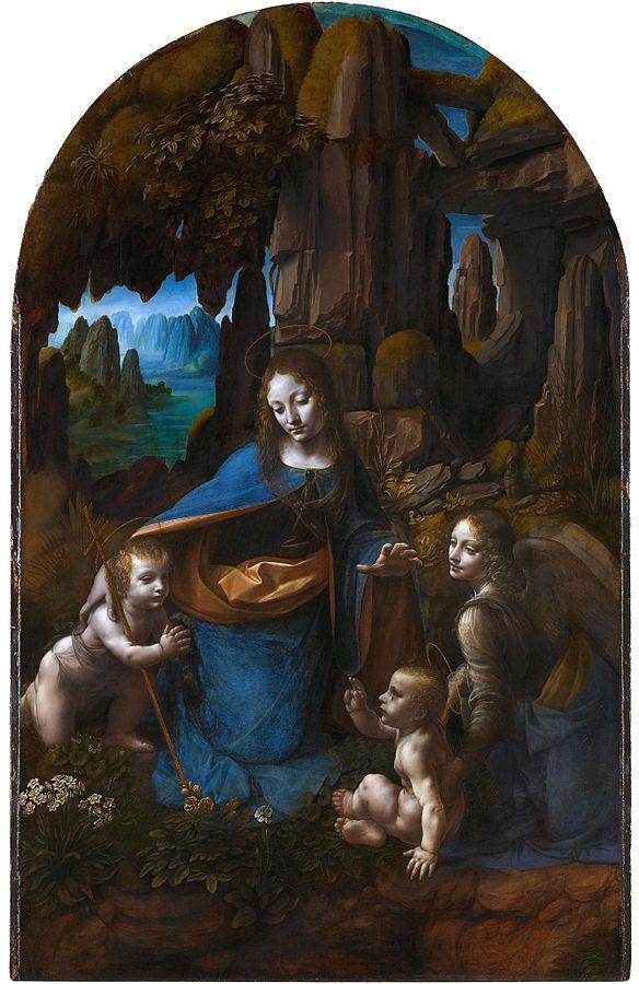 584px-Leonardo_da_Vinci_Virgin_of_the_Rocks_(National_Gallery_London)