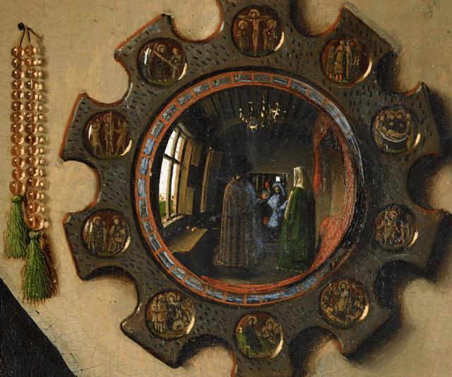 阿诺芬尼夫妇像中的镜子