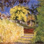 艺术家花园里的台阶 by 皮埃尔·博纳尔