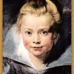 女孩头像,可能是画家的女儿克拉拉·塞拉娜·鲁本斯