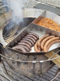 Rewarding Hot Sausages Cooking Away At Bar Harnasiówka