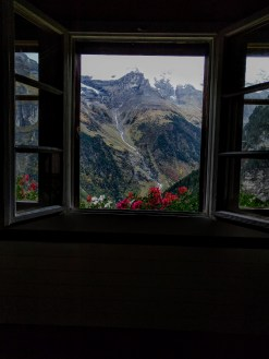Window View-Mt. Hostel Gimmelwald, Switzerland