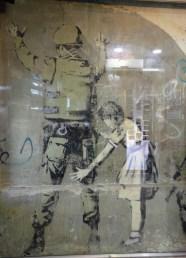 Banksy-Stop and Frisk (Girl and Soldier)-Bethlehem