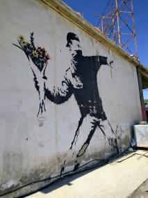Banksy Rage-Flower Thrower-Bethlehem