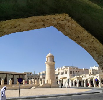 Old Mosque Minaret-Souq Waqif-Doha, Qatar