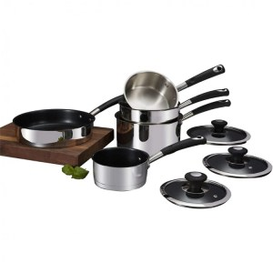 Tower 5 Piece Pan Set Stainless Steel
