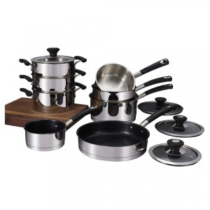 Tower Precision 8 Piece Stainless Steel Pan Set